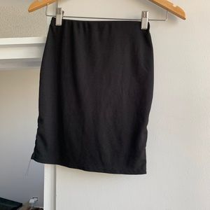 Pretty Little Thing black ribbed skirt size xs